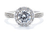 Noam Carver 14K White Gold Halo Engagement Ring B250-01A