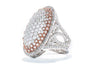 Gabriel New York 18k White & Rose Gold Fashion Ring LR6455