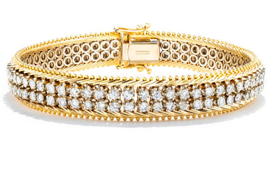 Adele Diamond 14K White and Yellow Gold Diamond Tennis Bracelet