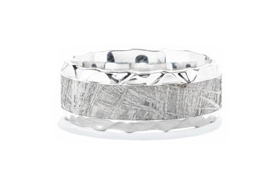 Lashbrook Cobalt Men's Wedding Band with Meteorite Inlay