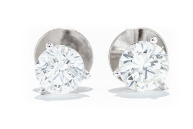 Adele Diamond 14k White Gold 2.05CT. TW. Certified Diamond Stud Earrings