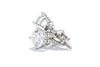 14K White Gold Round Diamond Stud Earrings 1.04ct