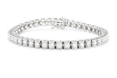 Adele Diamond 14K White Gold 5ctw Diamond Tennis Bracelet