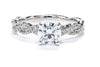 Noam Carver 14K White Gold Solitaire Engagement Ring B004-03A