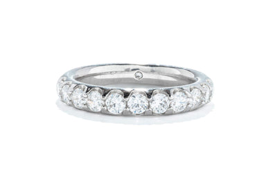 Gabriel & Co 14K White Gold Diamond .95ctw Round Diamond Contemporary Anniversary Band