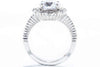 Unique Settings of NY 18K White Gold Halo Engagement Ring R02321