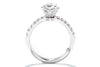 Unique Settings of NY 18K White Gold Solitaire Engagement Ring R02463