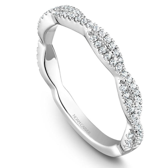 Noam Carver Platinum Stackable Ring - 68 Round Diamonds STB20-1WZ-D
