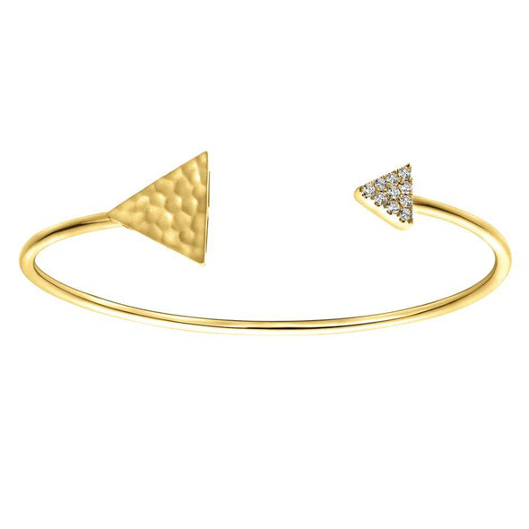 Gabriel NY 14K Yellow Gold Triangle Ends Bangle