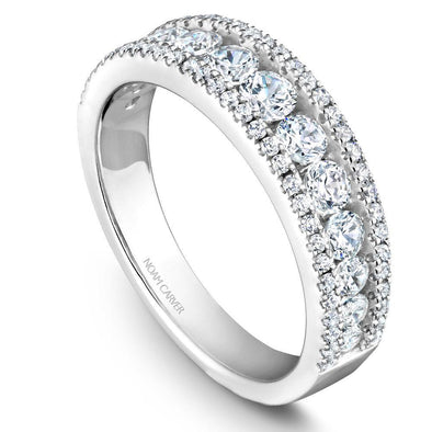 Noam Carver Platinum Stackable Ring - 73 Round Diamonds STB33-1WZ-D