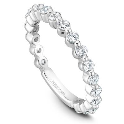 Noam Carver Platinum Stackable Ring - 19 Round Diamonds STB38-2WZ-D