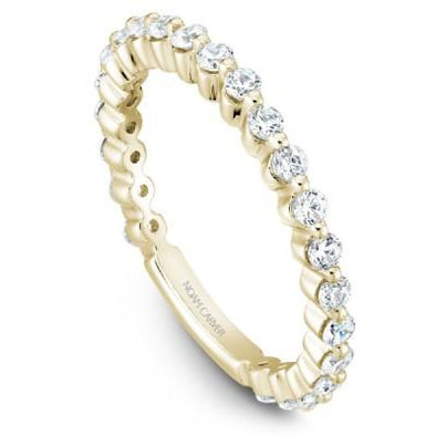 Noam Carver 18K Gold Stackable Ring - 23 Round Diamonds STB38-1S-D