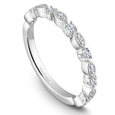 Noam Carver Platinum Stackable Ring - 13 Round Diamonds STB10-1WZ-D