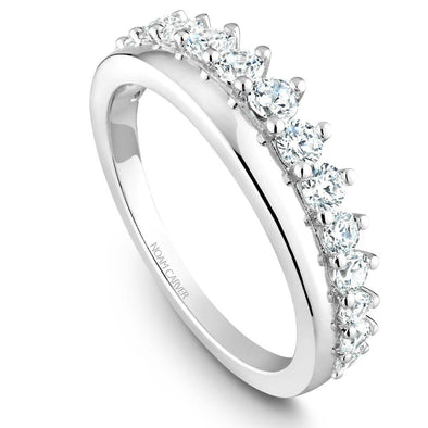 Noam Carver Platinum Stackable Ring - 15 Round Diamonds STB32-1WZ-D
