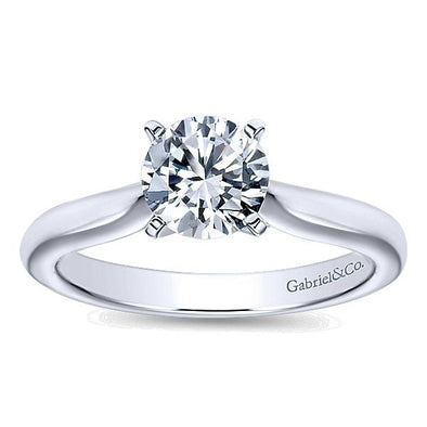 14K Classic Cathedral Solitaire Engagement Ring