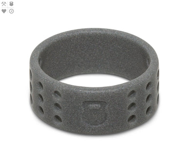 Gents QALO Smoke Grey Perforated Silicone Band