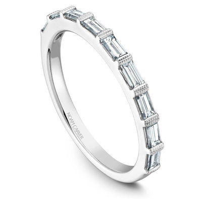 Noam Carver Platinum Stackable Ring - 9 Baguette Diamonds STA7-1WZ-D