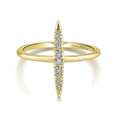 Gabriel NY Ladies 14K Yellow Gold Diamond Midi Ring LR51044Y45JJ