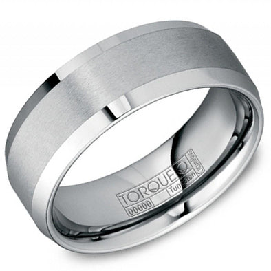 Torque Tungsten Carbide Brushed Finish Ring 8mm