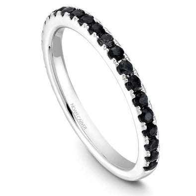 Noam Carver 14K Gold Stackable Ring - 24 Round Black Diamonds STA3-1M-BD