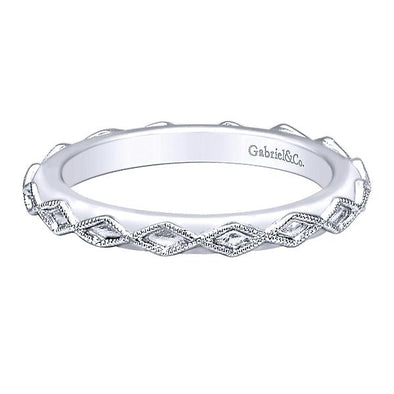 Gabriel NY Ladies 925Silver Stackable Band LR5962-7SVJJJ