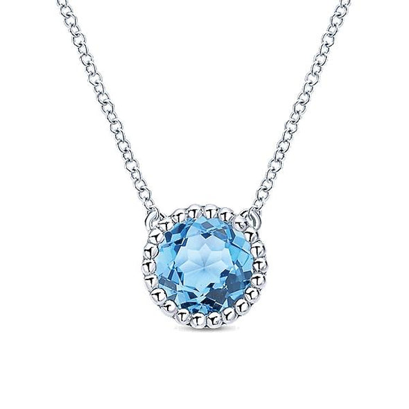 925 Silver Blue Topaz And Fashion
