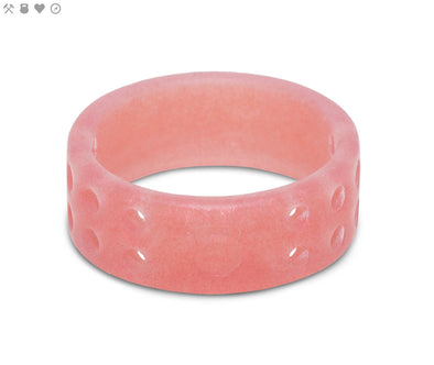 Ladies QALO Misty Rose Perforated Silicone Band