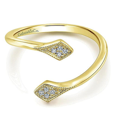 Gabriel NY Ladies 14K Yellow Gold Diamond Midi Ladies Ring LR51045Y45JJ