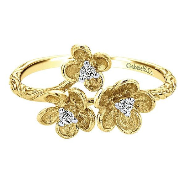 Gabriel NY Ladies 14K Yellow Gold Diamond Fashion Ring LR50556Y45JJ