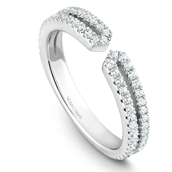 Noam Carver Platinum Stackable Ring - 66 Round Diamonds STB37-1WZ-D