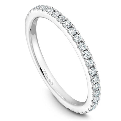 Noam Carver 18K Gold Stackable Ring - 29 Round Diamonds STA2-1S-D