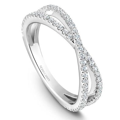 Noam Carver Platinum Stackable Ring - 71 Round Diamonds STB11-1WZ-D