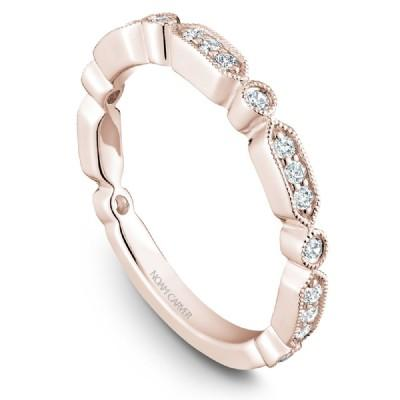 Noam Carver 18K Gold Stackable Ring - 21 Round Diamonds STB15-1S-D