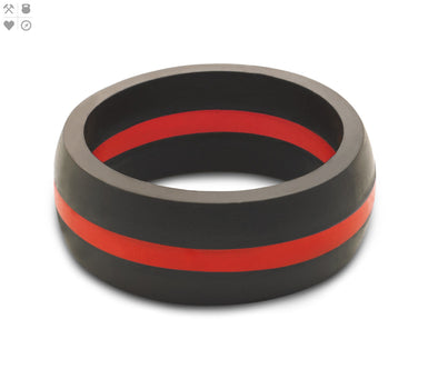 Gents QALO Red Line Silicone Band