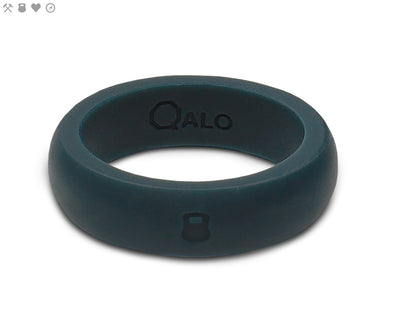 Ladies QALO Athletics Slate Grey Silicone Band