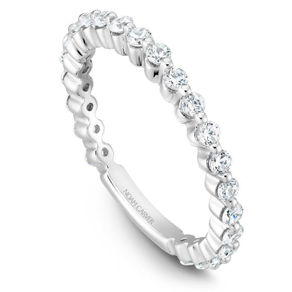 Noam Carver Platinum Stackable Ring - 23 Round Diamonds STB38-1WZ-D