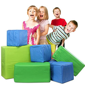 Memory Foam Soft Building Jumbo Blocks Set for Kids - 7 Pieces Bundle