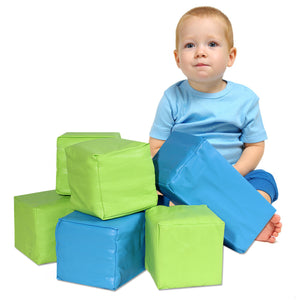 6 pc Soft Big Foam Blocks Play Set Sensory Gross Motor Developmental Skills