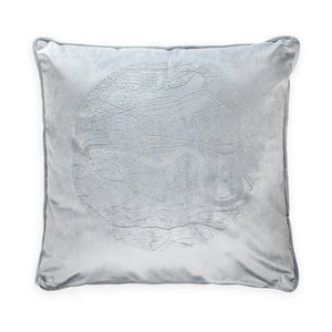 River Thames grey cushion