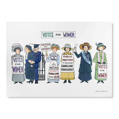 Suffragette Illustration Print