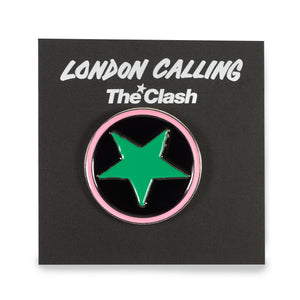 The Clash star enamel badge