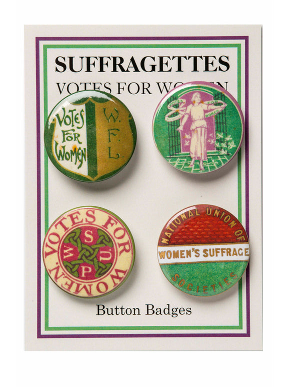 Suffragettes badge set