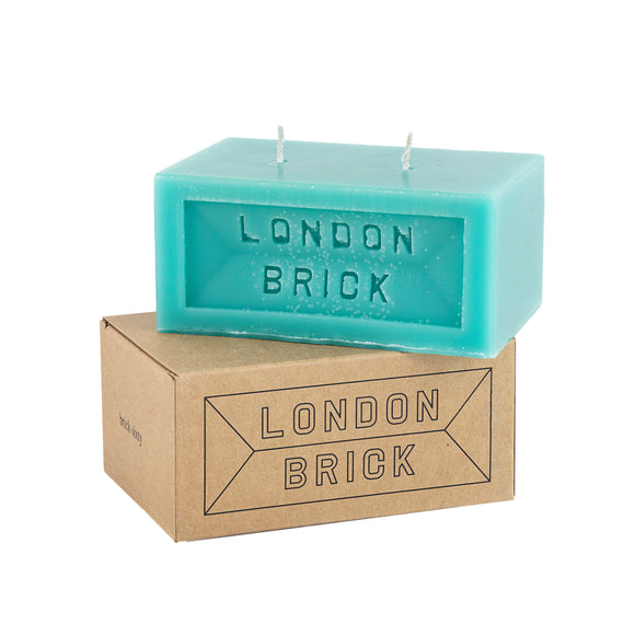 Blue Thames Drift Brick Candle