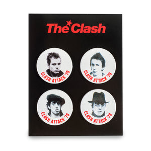 The Clash members button badge set