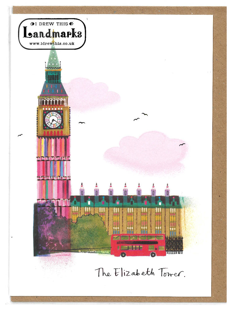 Elizabeth Tower greeting card