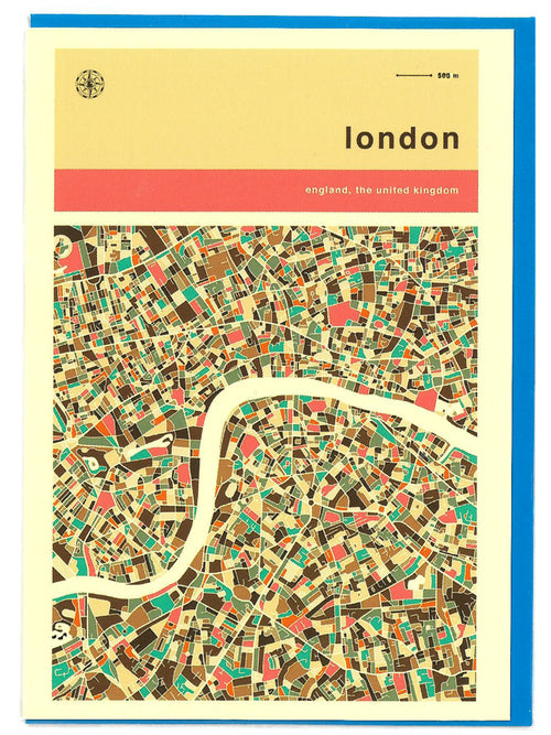 London street guide greeting card