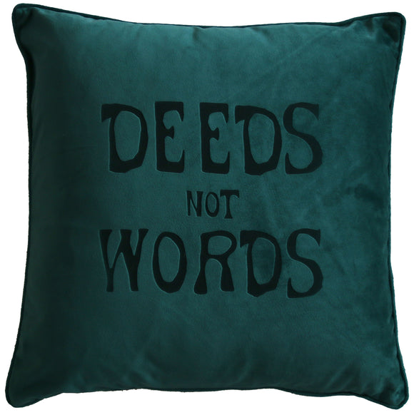 'Deeds Not Words' Cushion