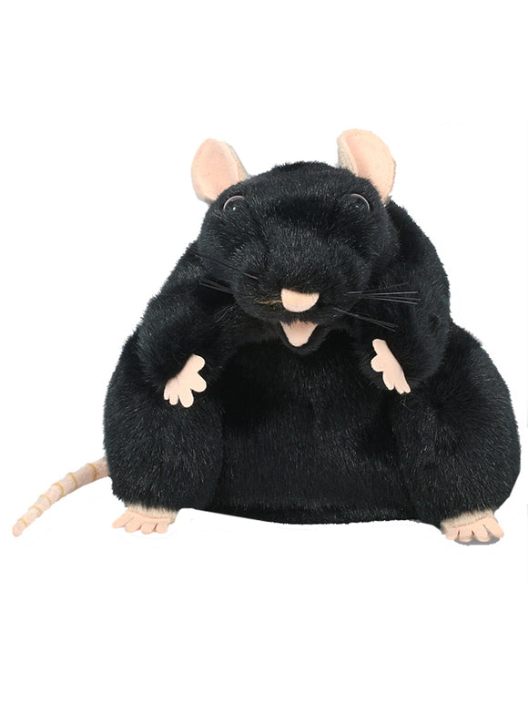 Black rat puppet