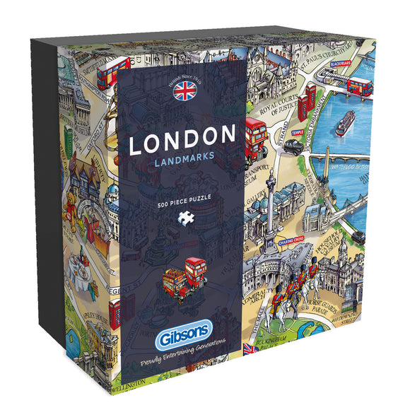 London Landmarks jigsaw 500 pieces