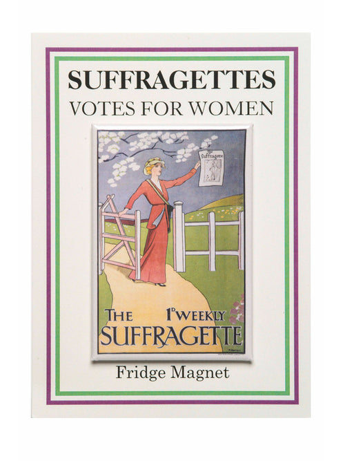 'Weekly Suffragette' fridge magnet